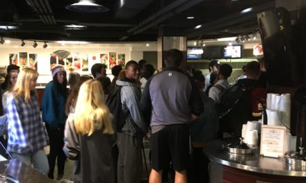 Students protest suspension of dining employee