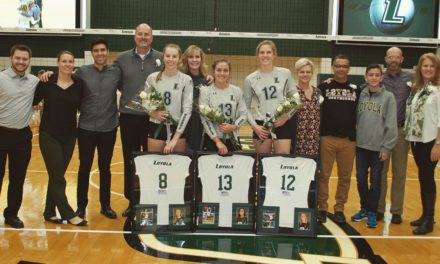 Volleyball honors three seniors in last home game of season