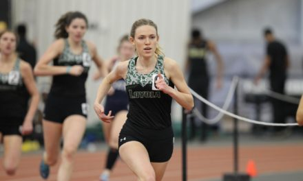 Senna Ohlsson and indoor track team dominate Patriot League Championships