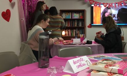 Spreading love during Galentine's Day at the Women's Center