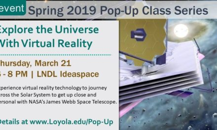 Students explore the universe with virtual reality pop-up class