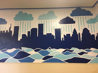 Art Club and Environmental Action Club Collaborate for Student Center Mural
